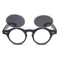 круглые круглые солнцезащитные очки оптовых-НОВАЯ мода Круглые солнцезащитные очки женские Дизайнерские солнцезащитные очки Steam Punk Metal de Sol Женщины ПОКРЫТИЯ Солнцезащитные очки Мужчины Ретро CIRCLE SUN GLASSES