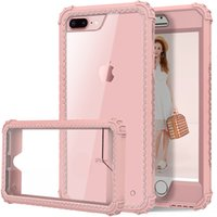 Wholesale Wholesale Heavy Bags - Aicoo Hybrid Heavy Duty Shockproof Full Body Protective Case With TPU PC 2 Layer Impact Protection For iPhone X 8 7 6S 6 Plus OPP Bag
