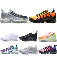 Wholesale hard coolers - Vapormax TN Plus Men Designer Trainers Running Shoes Silver Triple s Black White Cool Grey Hyper Violet Grape Men Sports Sneakers size 7-11
