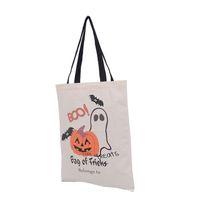 eisblau party dekorationen großhandel-Halloween-Tragetaschen Griff-Kürbis-Einkaufstasche-Festival-Geschenk-Tasche Halloween-Leinwand-Tasche 6 Arten