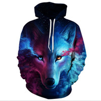 Wholesale light blue coat women s - Where Light And Dark Meet by JoJoesart Wolf 3D Hoodies Sweatshirts Men Women Hoodie Casual Tracksuits Fashion Brand Hoodie Coats