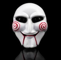 maskeli maskeler yapmak toptan satış-Katil Maske Cadılar Bayramı için korkunç terör testere PVC Parti Kostüm Cosplay el boyalı Maskeleri Noel Masquerade Yetişkin Tam Yüz Makyaj