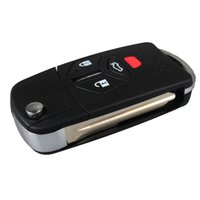 Wholesale Mitsubishi Car Key Shell - For Mitsubishi Car 3 Buttons Panic Replacement Remote Key Fob Case Key Shell