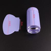 placas de sello para las uñas al por mayor-Nueva Jelly Silicona Nail Art Stamper con Scrapers Set Nail Stamp Plate Tool Manicure DIY Nail Art Tool 9 colores