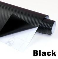 vinyl-film kohlenstoff 3d rot großhandel-3D Kohlefaser Vinyl Film 3 Mt Auto Wasserdichte DIY Auto Fahrzeug Auto Styling Wrap Rolle Auto Styling Motorrad