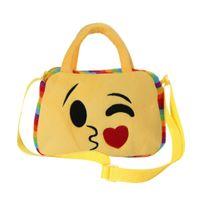 emoji schultaschen großhandel-Frauen Handtaschen Messenger Bags Beliebte Nette Emoji Emoticon Schulter Schultasche Satchel Teenager Handtasche Feminina 2018