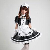 xxl cosplay lolita maids großhandel-Shanghai Geschichte Anime Rollenspiele Akihabara Cosplay Outfit Mädchen Comic Kostüme Mädchen Cosplay Frauen Mädchen Lolita Kleid Uniform