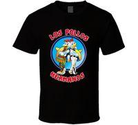рубашка los pollos hermanos оптовых-Лос-Pollos Hermanos футболка мужская черный Tee Оптовая Heisenberg подарок новый 100% хлопок с коротким рукавом О-образным вырезом топы футболки
