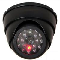 Wholesale led security lights camera - Dummy Dome Fake Security Camera CCTV 30pc False IR LED W  Flashing Red LED Light