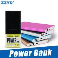 ingrosso batterie per banca di potenza-ZZYD Portable Powerbank ultra sottile slim powerbank 4000mAh caricabatterie per telefono cellulare S8 Tablet PC Batteria esterna