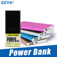 enerji bankaları toptan satış-ZZYD Taşınabilir Ultra ince ince powerbank 4000 mah şarj güç bankası S8 cep telefonu Tablet PC için Harici pil