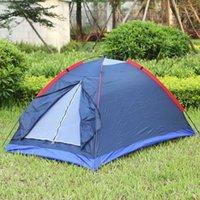 ingrosso pali di tenda fibra di vetro-Beach Tent Outdoor Outdoor Tent Kit In fibra di vetro Pole Resistenza all'acqua con borsa per escursionismo Viaggiare due persone