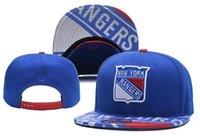 новые шотландские рейнджеры оптовых-2018 New New York Rangers Хоккейные шляпы Snapback Вышитый логотип команды Спортивные кепки Хоккей с регулируемой высотой Бейсбольные кости со специальным козырьком