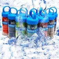 açık hava ter havlu toptan satış-Çift Katmanlı Soğuk Havlu Ter Emme Koşu Yoga Havlu Yaz Buz Havlu Açık Spor Buz Serin Havlu Hipotermi 90x30 cm