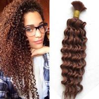 Wholesale human hair weft 33 for sale - Deep Wave Human Hair Bulk Bundle Peruvian Hair Bulk No Weft inch FDshine