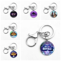 Wholesale men accessories sale - Creative Game Animation Keyring For Men And Women Key Buckle Practical Metal Fortnite Keychains Hot Sale 2 6ft
