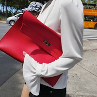 Wholesale patterned envelopes - 2017 Brand Fashion Women Day Clutches Bags Handbag Party Evening Envelope Clutch Crocodile Pattern Black Red Solid Purse Pouch