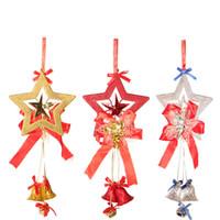 yılbaşı çanı süsleri toptan satış-Noel Süslemeleri Milu Geyik Asılı Çan Süsler Güzel Noel Jingling Bell kadın Brooche Çift Çan Ücretsiz Kargo
