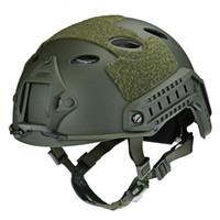 equipo de casco táctico al por mayor-Casco táctico ajustable Airsoft Gear Paintball Protector de cabeza con visión nocturna Deporte Montaje en cámara Mascarilla protectora Cascos VB