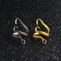 polvo de ouro venda por atacado-Anéis De Polvo De Aço de titânio Anéis De Prata Lula de Ouro Punk Estilo Polvo Anéis de Dedo Moda Jóias