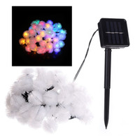 Wholesale solar decorative lights for halloween - Ball Solar String Lights 19.7ft 30 LED Fairy Water Drop Decorative Solar Lights for Outdoorn Lawn Party and Holiday Decorations
