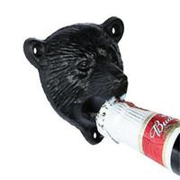 Wholesale bear shaped bottles resale online - Creative Iron Bear Head Shape Bottle Opener Bear Head Shape Cast Iron Wall Stationary Practical Beer Bottle Opener
