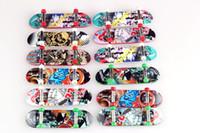 Wholesale Color Plastic Skateboards - Novelty Creative Mini Finger Skateboards Color Random New Design Finger Skateboard FingerBoard Kids Children Gift Toys TO488