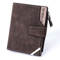 metallwaren großhandel-Herrenbrieftasche Vollnarbenleder Geldbörsen Kreditkarteninhaber Bifold Braun