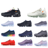 Wholesale winter baseball camps - 2018 Rainbow VM designer BE TRUE Men Women Shock Running Shoes For Real Quality Fashion Men Casual Sports Sneakers tn plus
