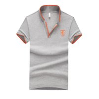 Wholesale shirts large - Summer Men V-Neck Polo Shirt Brand Fashion Patchwork Short Sleeves Polo Shirt Large Size M-5XL Size Top Clothing