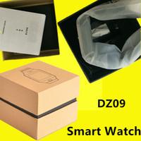 embalagem de pulseira venda por atacado-Dz09 smart watch dz09 relógios pulseira android assista smart sim inteligente do telefone móvel estado do sono smart watch pacote de varejo