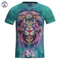 Wholesale brown 3d king online - Mr inc New Fashion Men Women d T Shirt Funny Print Colorful Hair Lion King Summer Cool T Shirt Street Wear Tops