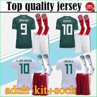 Wholesale g sock - adult kit+socks 2018 World Cup Mexico Soccer Jersey National Team CHICHARITO GUARDADO HERRERA 18 19 G . DOS SANTOS Football shirt