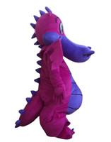 Wholesale fancy dress dragon - 2018 Discount factory sale Big Purple Dragon Mascot Costume Fancy Dress Adult Size