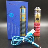 holz elektronische zigarettenbatterie großhandel-Original Marvec Zauberstab 90W Vape Kit mit stabiler Holzhülle Passform 18650 Batterie Elektronische Zigarette DHL-frei