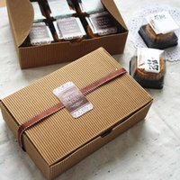 Wholesale Recycled Corrugated - Wholesale- 5pcs lot Cookie Package Christmas Gingerbread Corrugated Kraft Cake Box, Chocolate, Cake Muffin Biscuit Box Lovely Gifts