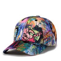 correa negra sombreros de espalda al por mayor-2018 nueva moda Graffiti snapback sombreros gorras de béisbol gorra gorra marca de diseño para hombres mujeres hip hop hueso envío gratis