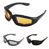 kayak gözlüğü çift cam toptan satış-2019 Motosiklet Gözlük Ordu Avcılık Çekim Için Polarize Güneş Gözlüğü Airsoft GözlükErkek Göz Koruması Rüzgar Geçirmez moto Gözlük