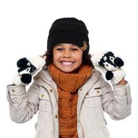 chapeaux tricotés pour enfants achat en gros de-Chapeaux D'hiver Pour Enfants D'hiver Tricoté CC À La Mode Chapeaux Bébés Tricot Bonnet Enfants De Mode Chaud Caps Pour Enfants Casual Accessoires