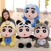 crayon shin chan brinquedos venda por atacado-Crayon Shin Chan Brinquedos De Pelúcia Cosplay Totoro Doraemon Rilakkuma Recheado Animais De Pelúcia Figura Boneca Crianças Brinquedos Macios Presente
