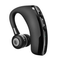 bluetooth kulaklıklar mobil toptan satış-V9 Bluetooth kulaklıklar Handsfree İş kablolu kulaklık Mic Ses Kontrolü Ile Kulaklık Cep telefonu için Iptal Sürücü Gürültü Için