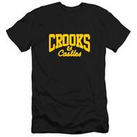 tshirts conception du cou pour les hommes achat en gros de-T-shirts à manches courtes à col rond pour hommes Crooks and Castles T-shirt à manches courtes pour hommes