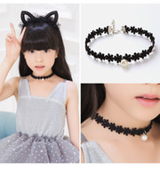 Wholesale Necklaces Choker Style - Fashion Style Girl Choker Stretch Women Girl Necklace Black Leather Rope Chain Layer Chocker Necklaces Decorate Hot Jewelry Gift