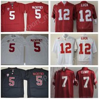 08c728cee Stanford Cardinal College 5 Christian McCaffrey Jersey Men Football 12  Andrew Luck 7 John Elway PAC 12 Red White Black Stitched Size S-3XL