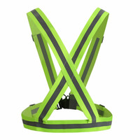 Wholesale sports gear boys resale online - 4CM Security High Visibility Reflective Vest Gear Stripes Jacket for Girls Boys Hiking Cycling Riding Outdoor Sports Night Riding