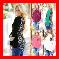 Wholesale Blouse Chiffon - Leopard Chiffon Womens Blouse Tops Spring Summer Clothes Multi Color