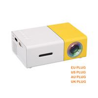 entretenimiento de cine al por mayor-YG300 Mini Proyector Portátil Proyector LCD HDMI USB AV SD 400-600 Lumen Teatro Niños Educación Beamer Projetor