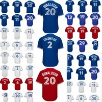 Wholesale Toronto 19 - Toronto Blue jersey 20 Josh Donaldson 2 Troy Tulowitzki 19 Jose Bautista 11 Kevin Pillar 6 Marcus Stroman 12 Roberto Alomar Jay jerseys