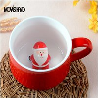 Wholesale Moms Cartoons - Mom 'S Hand 400ml 3d Lovely Christmas Coffee Mug Stereo Shape Cartoon Animal Ceramic Lovers Cup Christmas Gift