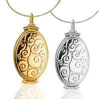 Wholesale egg shaped boxes - New Real Shooting Plated Gold Hollow EGG-Shaped Pendant Necklace Women Jewelry Accessories Cute Photo Box P276